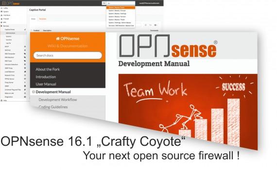 OPNsense 16.1 - Crafty Coyote