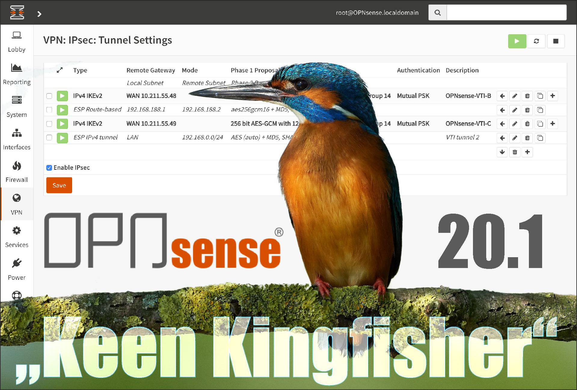 Press Photo OPNsense 20.1 Keen Kingfisher